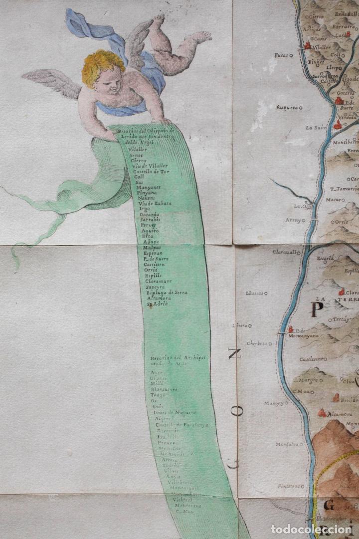 Arte: NUEVA DESCRIPCIÓN GEOGRAPHICA DE CATALUÑA , JOSEP APARICI, 1769. EDICIÓN DE 1720. COLOREADO. - Foto 4 - 128231423