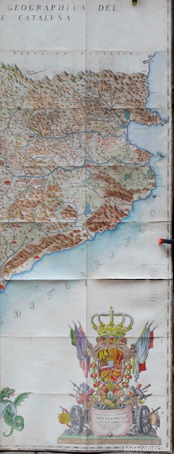 Arte: NUEVA DESCRIPCIÓN GEOGRAPHICA DE CATALUÑA , JOSEP APARICI, 1769. EDICIÓN DE 1720. COLOREADO. - Foto 10 - 128231423