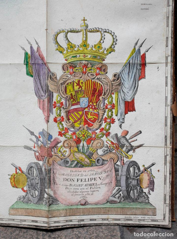 Arte: NUEVA DESCRIPCIÓN GEOGRAPHICA DE CATALUÑA , JOSEP APARICI, 1769. EDICIÓN DE 1720. COLOREADO. - Foto 12 - 128231423