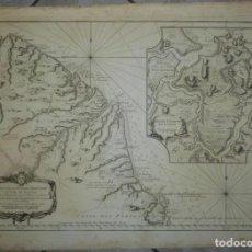 Arte: MAPA DE LA CIUDAD DE CAYENA (GUAYANA FRANCESA, AMÉRICA DEL SUR), 1763. BELLIN. Lote 128259355