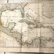Art: MAPA DE LAS ISLAS DE LA AMERICA Y DE OTROS PAISES DE TIERRA FIRME. POR D'ANVILLE, AÑO 1756. Lote 128325987