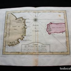 Arte: MAPA DEL ESTRECHO DE LE MAIRE (ARGENTINA, AMÉRICA DEL SUR), 1754. BELLIN/PREVOST. Lote 128348607