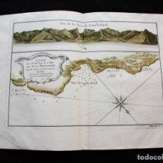Arte: BAHIA DE CUMBERLAND Y COSTA NORTE DE LA ISLA DE JUAN FERNÁNDEZ (CHILE), 1754. BELLIN/PREVOST. Lote 128351519