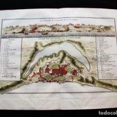 Arte: MAPA Y VISTA PANORÁMICA DE SAN SALVADOR DE BAHÍA (BRASIL, AMÉRICA DEL SUR), 1754. BELLIN/PREVOST. Lote 128352771