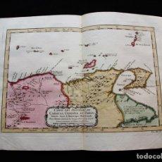 Arte: MAPA DE VENEZUELA E ISLAS (AMÉRICA DEL SUR), 1754. BELLIN/PREVOST. Lote 128353643