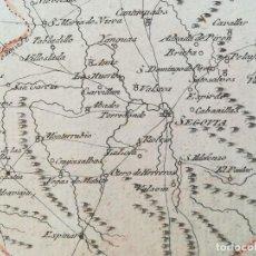 Art: MAPA DE SEGOVIA Y ALREDEDORES - AÑO 1791 - ORIGINAL. Lote 128521755