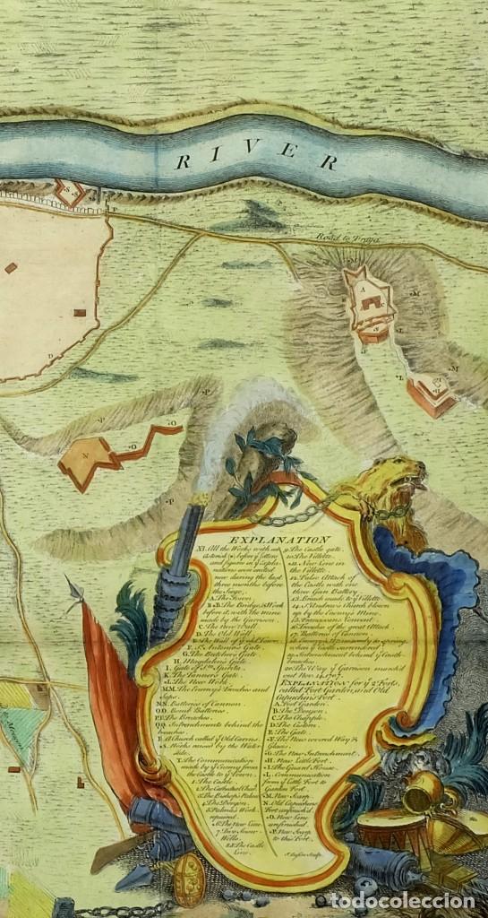 1750C - PLANO DE LÉRIDA LLEIDA ACUARELADO A MANO (Arte - Cartografía Antigua (hasta S. XIX))