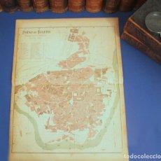 Arte: GRAN PLANO DE TOLEDO - CASTILLA–LA MANCHA - 1900 - MAPA LITOGRÁFICO A COLOR - 51 X 37 CM. Lote 128654571