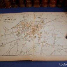 Arte: GRAN PLANO DE OVIEDO - ASTURIAS - 1900 - MAPA LITOGRÁFICO A COLOR - 51 X 37 CM. Lote 128656323