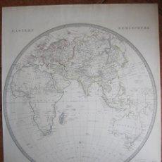 Arte: MAPA DEL HEMISFERIO ORIENTAL, 1841. SDUK. Lote 128919343