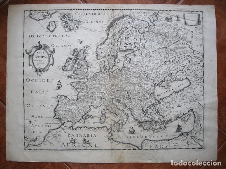 GRAN MAPA DE EUROPA, 1636. J. HONDIUS (Arte - Cartografía Antigua (hasta S. XIX))