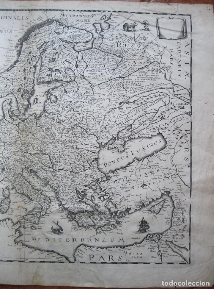 Arte: Gran mapa de Europa, 1636. J. Hondius - Foto 3 - 128919847