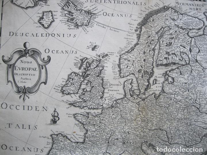Arte: Gran mapa de Europa, 1636. J. Hondius - Foto 4 - 128919847