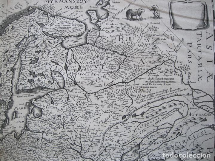 Arte: Gran mapa de Europa, 1636. J. Hondius - Foto 6 - 128919847