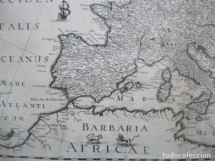 Arte: Gran mapa de Europa, 1636. J. Hondius - Foto 7 - 128919847