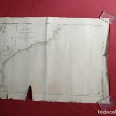 Arte: 1827 - CARTA ESFERICA DE UNA PARTE DE LA COSTA DEL BRASIL - BAHIA ESPIRITU-SANTO A MORRO STA MARTA. Lote 128986851