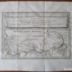 Arte: MAPA DEL CURSO DEL RÍO AMAZONAS (AMÉRICA DEL SUR), 1763. COLTELLINI Y ROSSI. Lote 129002283