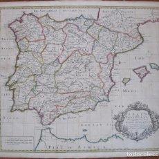 Arte: GRAN MAPA DE ESPAÑA Y PORTUGAL, 1719. JOHN SENEX. Lote 129020007