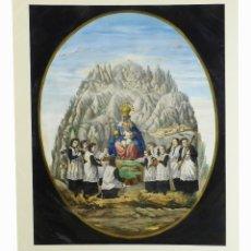 Arte: 1750/1850 GRABADO CARTOGRÁFICO - MONTAÑA DE MONTSERRAT CON LAS ERMITAS Y LA VIRGEN. Lote 129084163