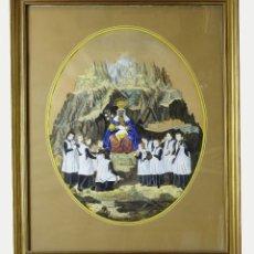 Arte: 1750/1850 GRABADO CARTOGRÁFICO - MONTAÑA DE MONTSERRAT CON LAS ERMITAS Y LA VIRGEN. Lote 129084339
