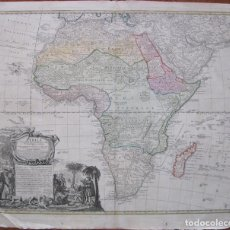 Arte: GRAN MAPA DE ÁFRICA, 1735. HOMANN. Lote 129109659