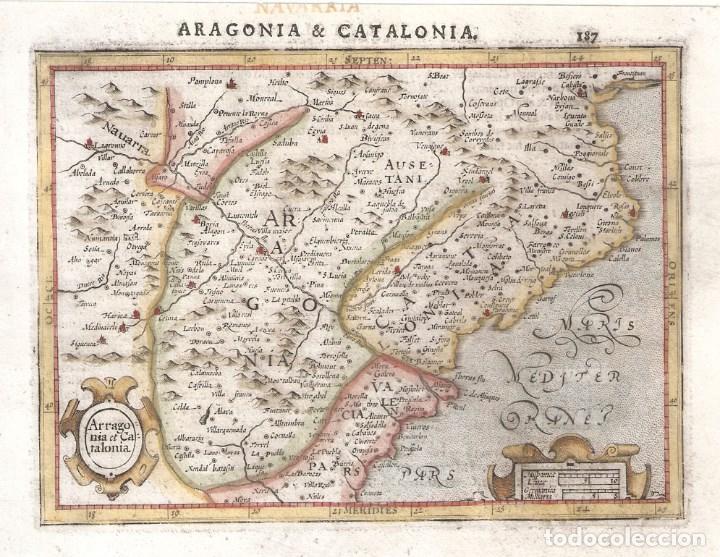 MAPA DE ARAGÓN Y CATALUÑA DEL SIGLO XVII (Arte - Cartografía Antigua (hasta S. XIX))