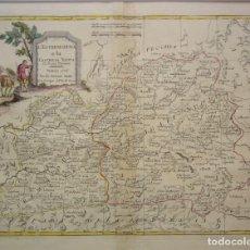 Arte: MAPA DE EXTREMADURA Y CASTILLA LA MANCHA DEL SIGLO XVIII DE ANTONIO ZATTA. Lote 129287319