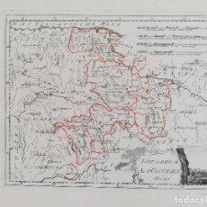 Arte: MAPA CASTILLA - SORIA VALLADOLID LEON PALENCIA AVILA SEGOVIA BURGOS SALAMANCA - AÑO 1791. Lote 129441435