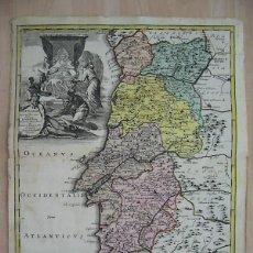 Arte: GRAN MAPA DE PORTUGAL, CIRCA 1720. C. WEIGEL. Lote 129457091