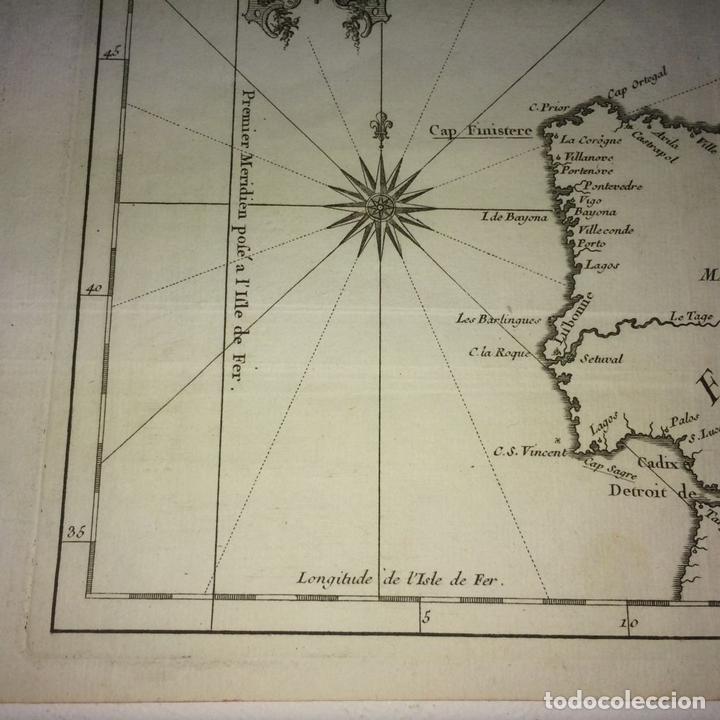 Arte: CARTE DES COSTES DE FRANCE ET DESPAGNE. JACQUES NICOLAS BELLIN. FRANCIA.1749-1760 - Foto 5 - 129524459