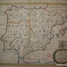 Arte: GRAN MAPA DE ESPAÑA Y PORTUGAL EN ÉPOCA ROMANA, 1738. EDWARD WELLS/SPOFFORH. Lote 129635615