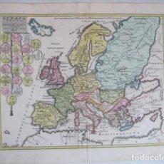 Arte: MAPA DE EUROPA EN ÉPOCA ROMANA, 1720. WEIGEL. Lote 129731807