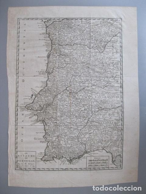 MAPA DE PORTUGAL, 1773. VAUGONDY (Arte - Cartografía Antigua (hasta S. XIX))