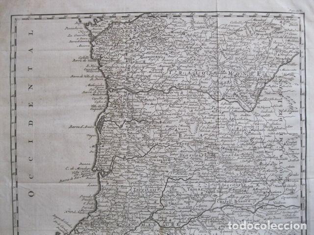 Arte: Mapa de Portugal, 1773. Vaugondy - Foto 3 - 129732971