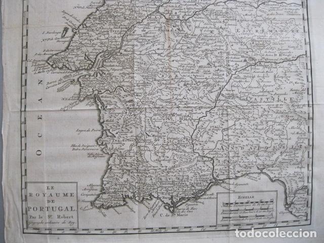Arte: Mapa de Portugal, 1773. Vaugondy - Foto 4 - 129732971
