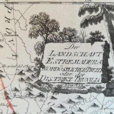 Arte: MAPA DE TRUJILLO Y ALREDEDORES - EXTREMADURA - REILLY - AÑO 1791 - ORIGINAL. Lote 130550906