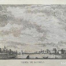 Arte: GRABADO VISTA DE SEVILLA - V. MARIANI - AÑO 1795. Lote 131079032