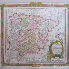 Arte: MAPA DE ESPAÑA Y PORTUGAL, 1790. BRION DE LA TOUR. Lote 131356006