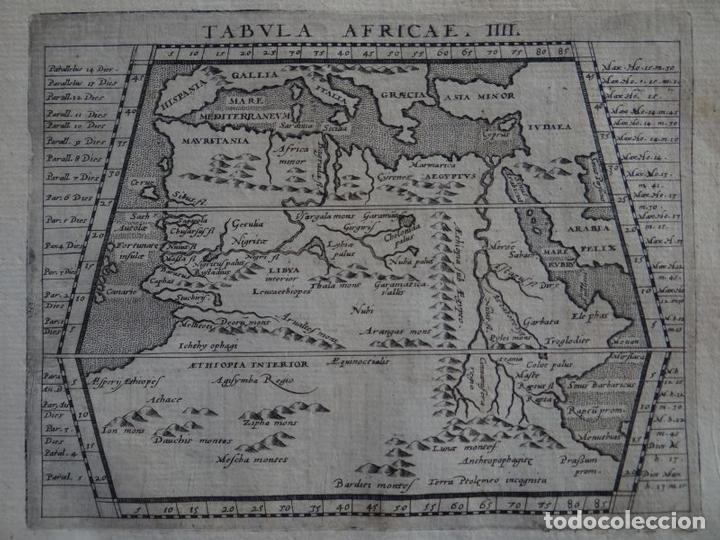 Arte: Mapa del norte y centro de África, 1597.Ptolomeo/Magini/Kreschedt - Foto 2 - 131388766