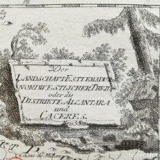 Arte: MAPA DE CACERES ALCANTARA - EXTREMADURA - AÑO 1791. Lote 131441222