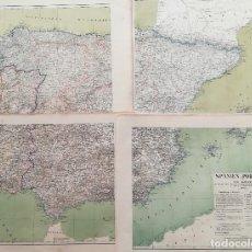 Arte: MAPA DE ESPAÑA Y PORTUGAL EN 4 HOJAS EDITADO EN ALEMANIA - AÑO 1842 - ANTIGUA DIVISION TERRITORIAL. Lote 131529890