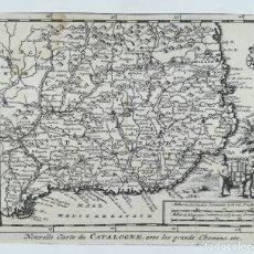 Arte: MAPA DE CATALUNYA - AÑO 1707 - P. VAN DER AA. Lote 131579542