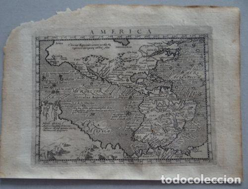 MAPA DE AMÉRICA DEL NORTE, CENTRAL Y SUR, 1597. PTOLOMEO/MAGINI/KESCHEDT (Arte - Cartografía Antigua (hasta S. XIX))