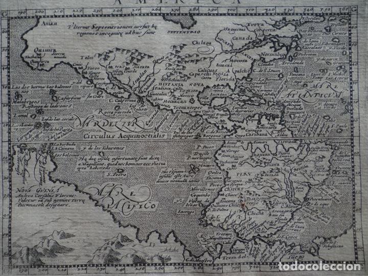 Arte: Mapa de América del Norte, Central y Sur, 1597. Ptolomeo/Magini/Keschedt - Foto 2 - 131628686