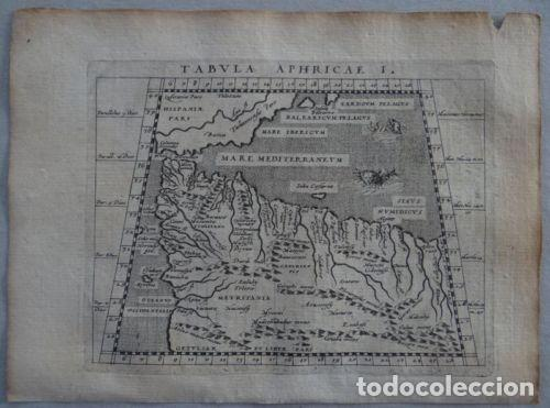 MAPA DEL NORTE DE ÁFRICA Y ESPAÑA, 1597. PTOLOMEO/MAGINI/KESCHEDT (Arte - Cartografía Antigua (hasta S. XIX))