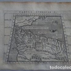 Arte: MAPA DEL NORTE DE ÁFRICA Y ESPAÑA, 1597. PTOLOMEO/MAGINI/KESCHEDT. Lote 131633414