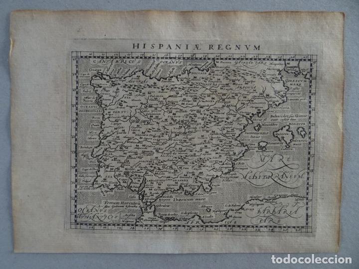 MAPA DE ESPAÑA Y PORTUGAL, 1597. PTOLOMEO/MAGINI/KESCHEDT (Arte - Cartografía Antigua (hasta S. XIX))