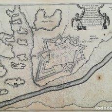 Arte: MAPA DE FUENTERRABIA - AÑO 1696 - ES ORIGINAL. Lote 131729870