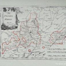 Arte: MAPA DE MADRID Y SUS ALREDEDORES - SIGLO XVIII - ES ORIGINAL. Lote 132000858