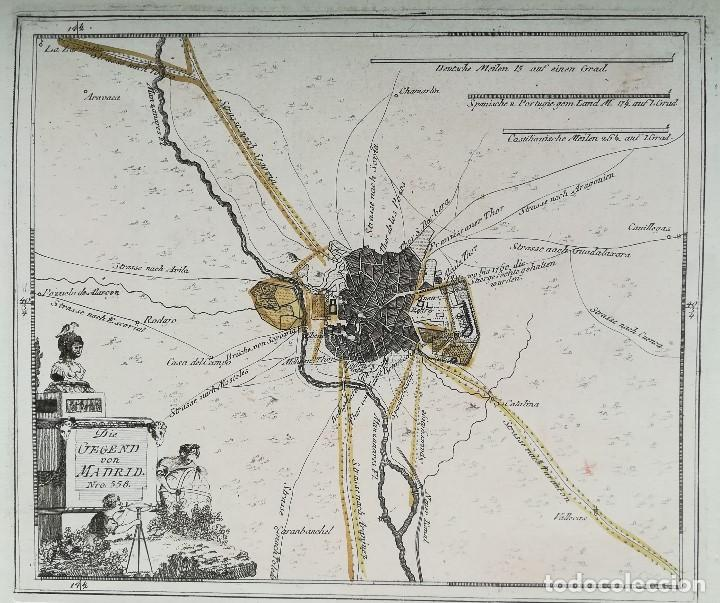 MAPA PLANO DE MADRID - SIGLO XVIII - ORIGINAL (Arte - Cartografía Antigua (hasta S. XIX))